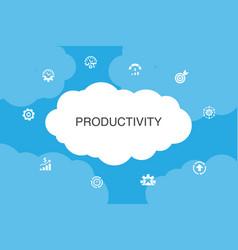 Productivity infographic cloud design template vector