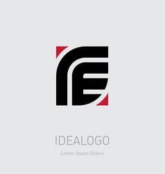 R and e initial logo re initial monogram logotype vector
