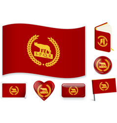 Roman empire flag 3 layers vector