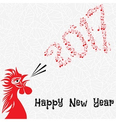 rooster bird concept chinese new year the vector image