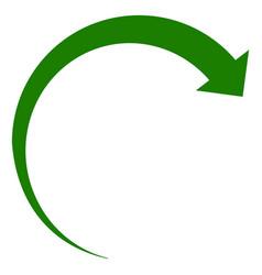 rotate forward flat icon symbol vector image