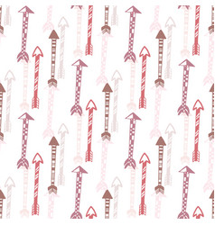 Seamless background of vintage arrow hand drawn vector