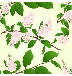 Seamless texture pink lilac branch natural vector