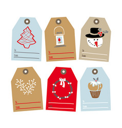 Set tags for gifts vector