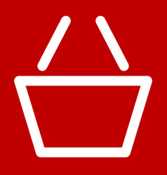 shopping cart symbol shopping cart icon outline vector image