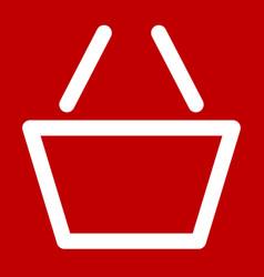 shopping cart symbol shopping cart icon outline vector image