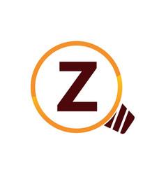 Smart solution letter z vector