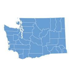 State map of Washington by counties vector image vector image