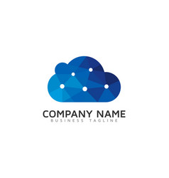 tech cloud logo icon design vector image