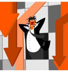 tragedy on market vector image