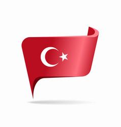 Turkish flag map pointer layout vector