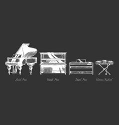 Types piano vector