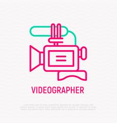 Video camera thin line icon vector