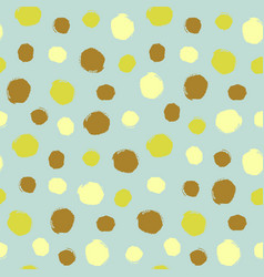 Watercolor hand painted polka dot seamless pattern vector