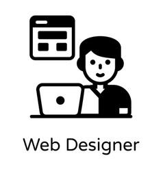 Web designer vector
