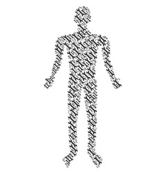 wrench human figure vector image