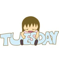 Boring Tuesday vector image vector image