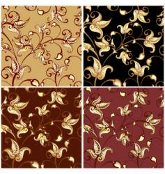 colorful floral backgrounds vector image vector image
