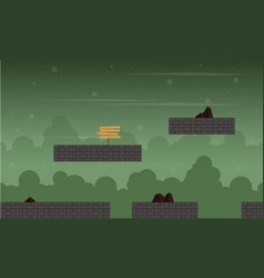 Game background at night scenery vector