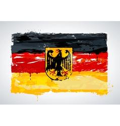 Grunge germany national flag vector