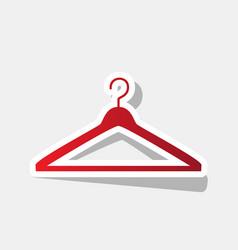 hanger sign new year reddish vector image