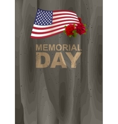 Memorial Day in USA US American flag rose and vector image vector image