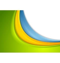 Abstract colorful smooth corporate waves vector image vector image