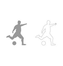 footballer set icon vector image
