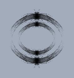 grunge circle tire tracks vector image vector image
