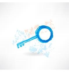 Key grunge icon vector image vector image