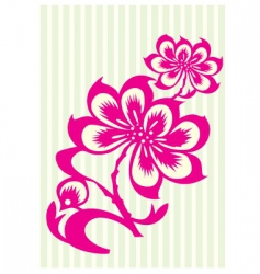 pink flower vector image vector image