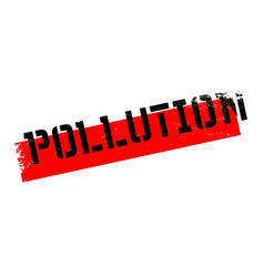 Pollution rubber stamp vector
