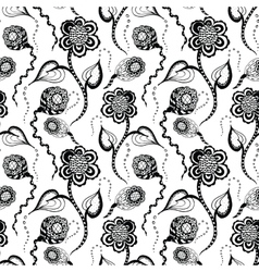 seamless pattern with flower vector image vector image