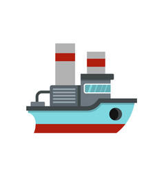 small ship icon flat style vector image