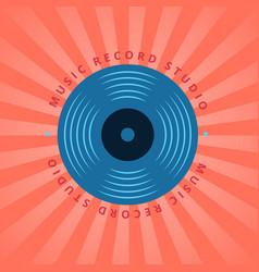sound record studio vinyl music shop club vector image