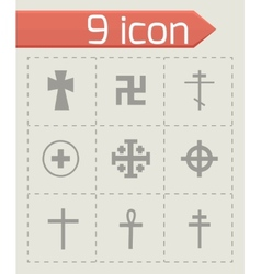 crosses icons set vector image