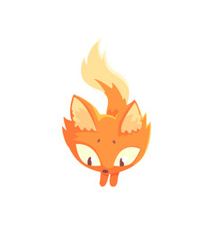 funny red kitten jumping cute cartoon animal vector image