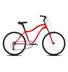 Red Bicycle on a white background vector image