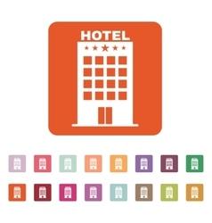 The Hotel icon Travel symbol Flat vector image