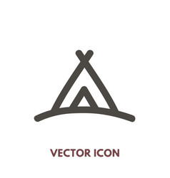 camping icon vector image vector image