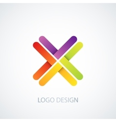 colorful logo letter x vector image vector image