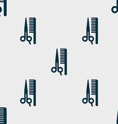 hair icon sign Seamless pattern with geometric vector image