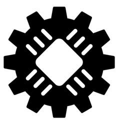 hardware gear flat icon vector image