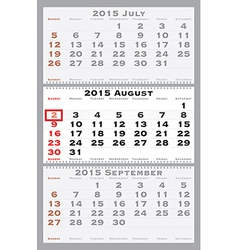 2015 august with red dating mark vector