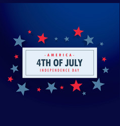 4th july background with stars vector