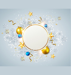abstract christmas round banner vector image