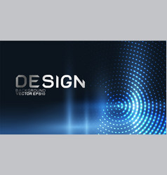 abstract dynamic flowing wave for landing page vector image