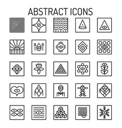 Abstract line icons vector