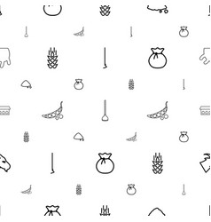 Agriculture icons pattern seamless white vector