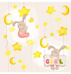 Baby Bunny Seamless Pattern vector image
